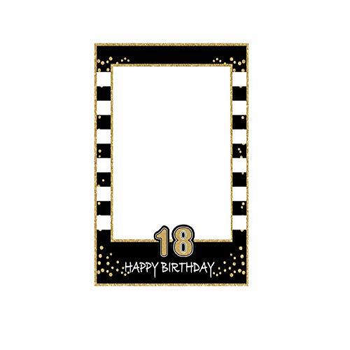 Cornice per Selfie, Cornici per Selfie 18 Compleanno, Selfie Picture Frame Photo Booth Cornici Selfie in Oro Nero Cornici per Eventi Aziendali, Compleanno, Matrimonio, Feste Decorazioni