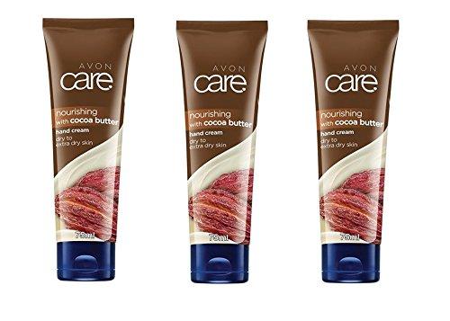 3 X Avon Care nourrissant Beurre de cacao Crème mains