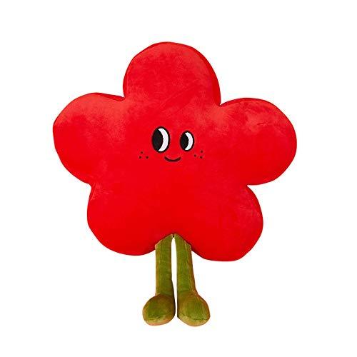 Mbdyvv Flower Pillow Plush Toy Bedroom Bay Fönster Tillbaka för att skicka en liten röd blomma flicka födelsedagspresent