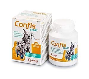 immagine di Candioli Confis Start - Supporto del metabolismo articolare in caso di osteoartrite per cani adulti e cuccioli, Barattolo da 40 compresse, 80 gr