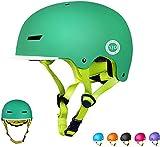 XJD Casco da Bici per Bambini Casco Protettivo Ideale per Bambini e Adolescenti Leggero ma più Sicuro Anche per Skateboard Monopattino Pattini a Rotelle Aggiorna 2.0 (Verde, Small)