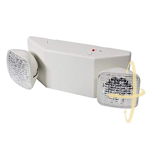 eTopLighting LED Emergency Exit Light - Standard Square Head UL924, EL5C12-1
