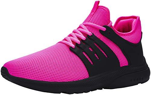 DYKHMILY Impermeable Zapatillas de Seguridad Mujer Ligeras Zapatos de Seguridad Trabajo Punta de Acero Calzado de Seguridad Deportivo (Rosado,38.5 EU)