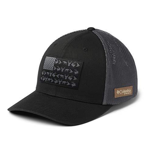 Columbia Unisex PHG Mesh Ball Cap, Black, PHG Flag, Small/Medium,Black/Phg Flag,Small-Medium