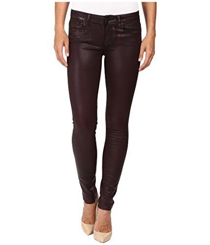 PAIGE Women's Verdugo Ultra Skinny Jeans-Wine Luxe Coating, 24