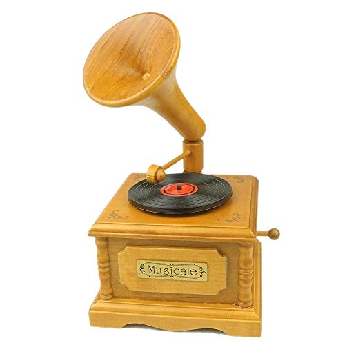 Z.L.FFLZ Vintage Music Box Wooden Music Box Retro-Plattenspieler Plattenspieler Geburtstags-Geschenk for Geburtstag Geschenkbox (Color : Fairy Tale, Size : Kostenlos)