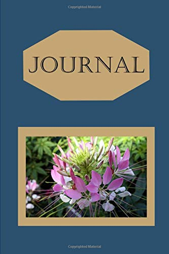 Cleomes Flower Journal: For Flower Lovers and Writers: Blank Lined Paper Notebook