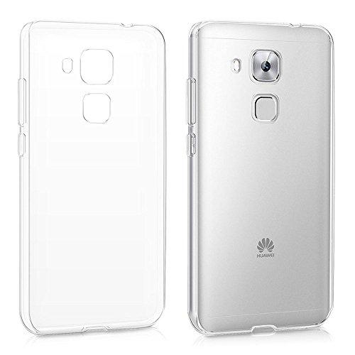 REY Funda Carcasa Gel Transparente para Huawei G9 Plus/Nova Plus, Ultra Fina 0,33mm, Silicona TPU de Alta Resistencia y Flexibilidad