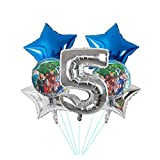 Globo 7 unids Globos de lámina 30 Pulgadas Azul número Inflable Bola superhéroe Hulk Fiesta de cumpleaños decoración niños Juguetes Estrella Globos (Color : 5)