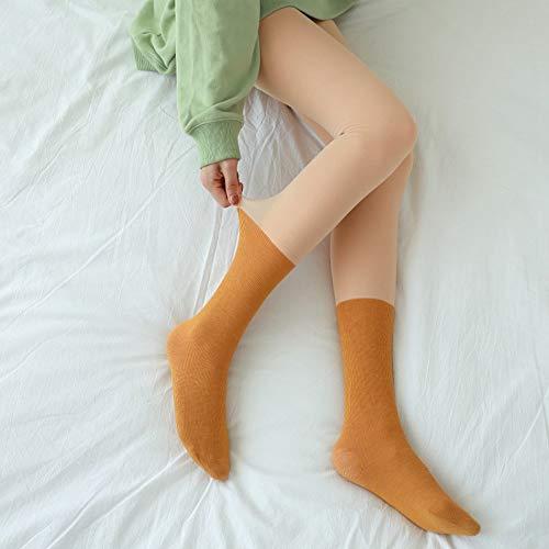 Damen Strumpfhosen Winter,Winter Warm Und Samt Strumpfhose Weiblich Nackt Farbe Sinn...