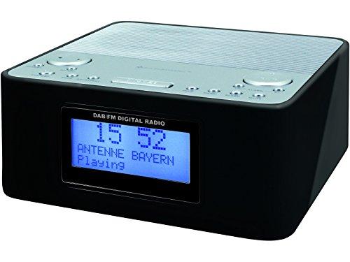 Soundmaster UR170SW in schwarz, DAB+/UKW-PLL Radiowecker, Wecker, Dualalarm