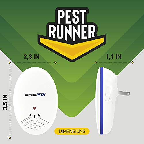 Pest Control Ultrasonic Repellent - Electronic Pest Control Repels Mice Rats Spiders Roaches Ants Snakes Rodents