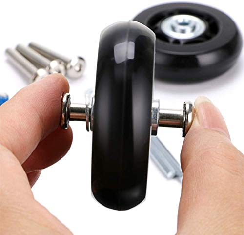 Luggage Suitcase Replacement Wheels Rubber Swivel Caster Wheels Bearings Repair, Home & Garden for Christmas Day (Black)