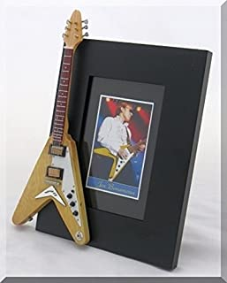 JOE BONAMASSA miniatura Marco de la guitarra Imagen Gibson Flying Vee