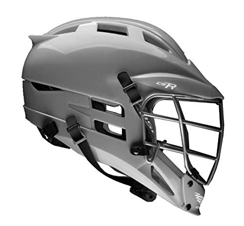 Cascade CS-R Youth Lacrosse Helmet (Choose Your Shell Color) Recommended for Ages 12 & Under (Silver)