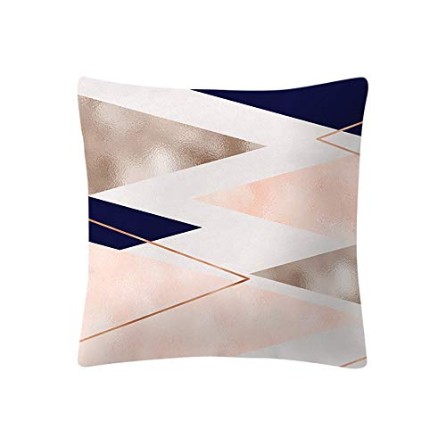Dragon868 Kissen Hülle Rose Gold Pink Kissen Cover Square Pillowcase Wohndekoration 45x45 cm