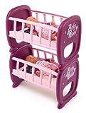 Smoby 220345 Baby Nurse Zwillingspuppen-Bettchen, Puppenbett, Babypuppe, für Kinder ab 2 Jahr, Rosa, Lila