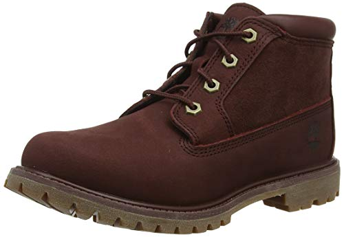 Timberland Damen Nellie Leather Suede Chukka Boots, Rot (Dark Brown Nubuck), 41.5 EU
