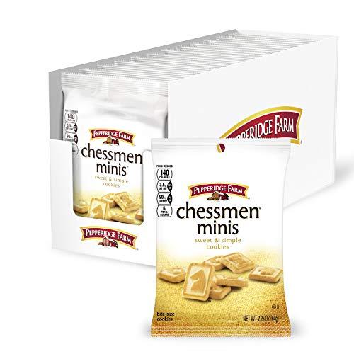 Pepperidge Farm Chessmen Minis Butter Cookies, 18 oz. Display, 8-count 2.25 oz. Snack Packs