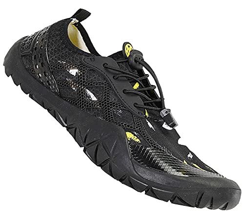 Gaatpot Escarpines de Surf para Mujer Hombre Zapatos de Playa Zapatos de Agua Barefoot Deporte Secado Rápido Yoga Aptitud Aire Libre Negro 45EU