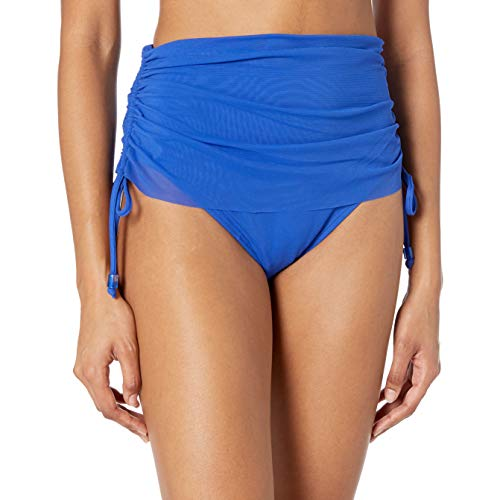 Carmen Marc Valvo Women's Side Tie Bikini Bottom Swimsuit with Smooth Shaping Liner, Port Royal, X-Small/2-4