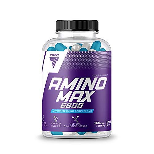 AMINOMAX 160 Capsule | BCAA + Amminoacidi Essenziali | Anabolico + Anticatabolico | Pillole Di Proteine Del Siero Di Latte | Anabolico | Crescita Della Massa Muscolare