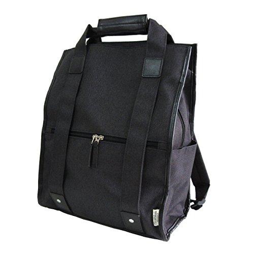 (ヘルスニット) Healthknit スクエア リュック スクエアリュック ボックス リュック リュックサック マザーバッグ バックパック レディース メンズ BLK