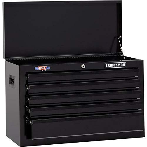 CRAFTSMAN 1000 5-Drawer Lockable Ball-Bearing Steel Tool Box Storage Chest Black