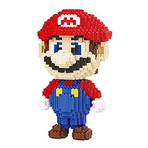 FJJF Super Mario Building Bricks Dibujos Animados Conection Block Ensamblaje Juguetes Modelo Regalos para Niños (3891Pcs)