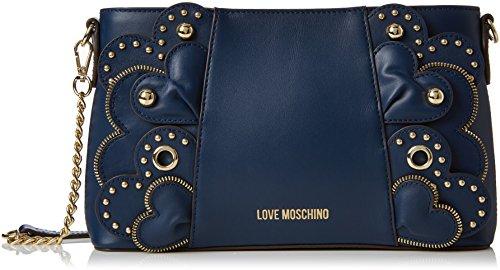Love Moschino Borsa Vitello Smooth Blu, Sacs portés épaule femme, Bleu (Blue), 6x16x28 cm (B x H T)