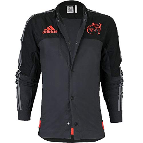Adidas Munster Anthem Jacke AC1373 Herren Fanjacke / Rugbyjacke / Clubwear Schwarz L
