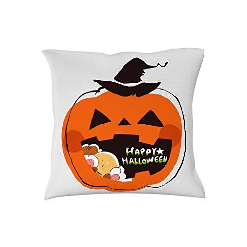 BOBONC Kussensloop 18cm 18cm Soft Vierkante kussenhoezen in polyester weefsel pompoen eten snoepgoed - hema voor auto terras Halloween