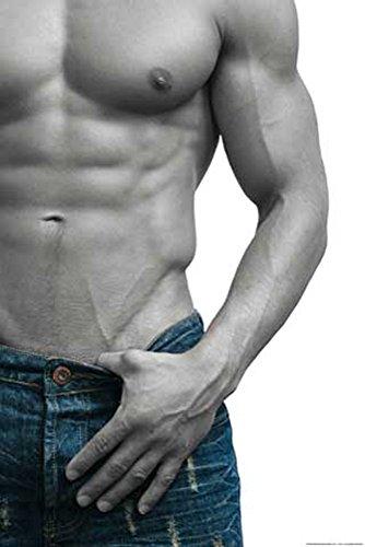 Colourlight - Jeans Boy - Akt Poster Erotik Poster Foto nackter Mann Sixpack Oberkörper - Grösse cm