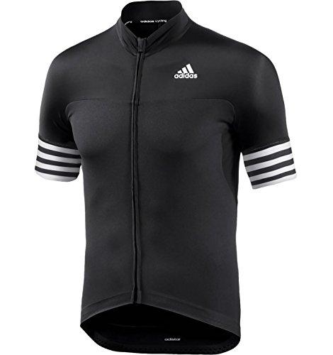 adidas Herren Trikot Adistar Radtrikot Cycling Jersey (Black/White, XS)