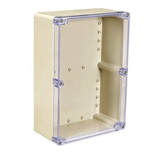 Sourcingmap 263x 182x 95mm/26,3x 18,2x 9,5cm Rückbeleuchtung Elektronische Junction Project Box Gehäuse Case Outdoor/Indoor mit Klar Cover ABS-Kunststoff DIY