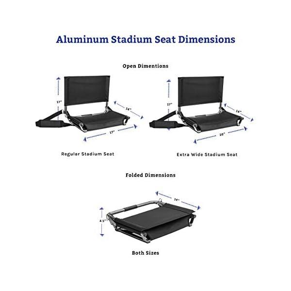 Cascade Mountain Tech Stadium Seat - Lightweight, Portable Folding Chair for Bleachers and Benches