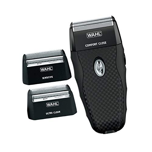 Wahl Flex Shave Rechargeable Foil Shaver for Sensitive Skin with Built-in Pop Up Trimmer and 3 Interchangeabe Shaving Heads - Model 7367-400