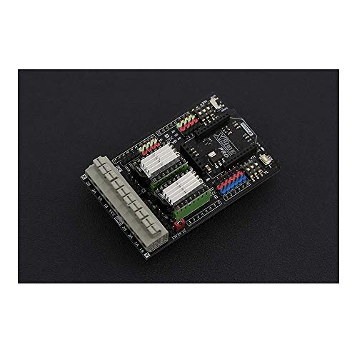 Gravity: Dual Bipolar Schrittmotor Shield für Arduino (DRV8825) – Schrittmotoren Treiber Expansion Shield kompatibel mit Arduino UNO R3