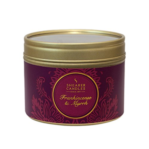 Shear Scented Candles In Tins – Frankincense & Myrrh (6.4cmx4.2cm) 20hrs