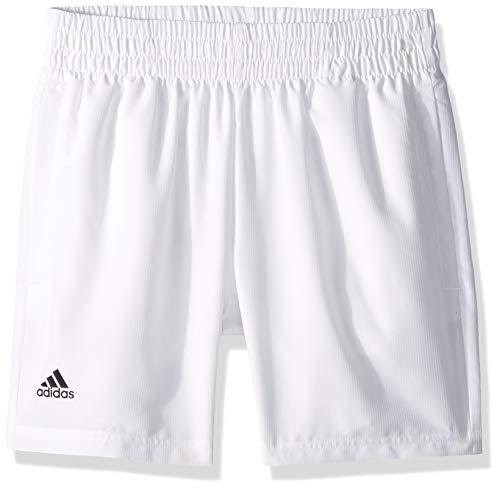 adidas Juniors' Tennis Club Shorts, White/Black, Small