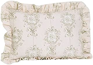 Cotton Tale Designs Ruffled Pillow Sham, Lollipops and Roses