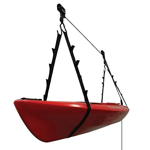 Extreme Max 3004.0204 Kayak/Canoe/Bike/Ladder Hoist & Lift for Storage in Shop or Garage - 120 lb. Capacity, Black