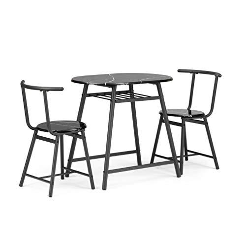 T-ara Morbido e confortevole Spazio compresso con struttura in acciaio per cucina da cucina, tavolo da cucina, tavolo da bar e sedia, tavolo da pranzo e sedia, tavola e sedia ritmica, tavolo da pranzo