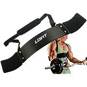 LOVIT Best Quality Arm Blaster 6mm Neoprene Neck Padding, 5mm Aluminium Thickness, Best Arm Padding, for Body Building, Muscle Builder, Bicep Blaster