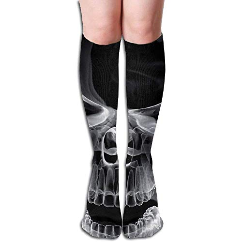 wwoman Tube High Keen Sock Boots Crew Terrible Skull Chaussettes de Compression Longs Bas de Sport
