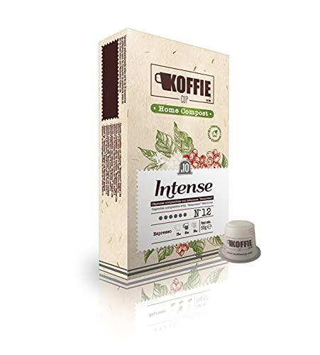 KoffieCup Intense 40 cápsulas compostables de café compatibles con máquinas Nespresso original line. Receta Intense. Total 40 cápsulas (4x10cáps)