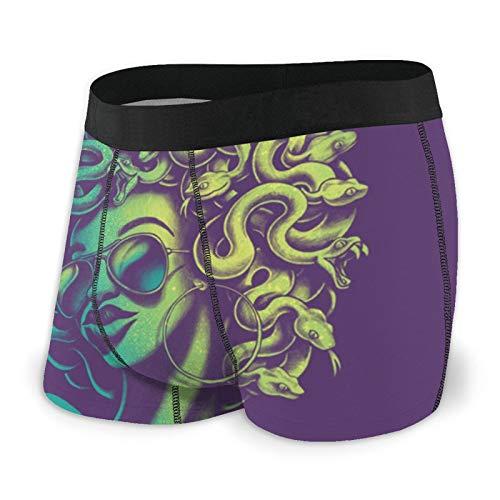 Calzoncillos boxer para hombre ajustados calzoncillos Funky serpiente cabeza mujeres troncos ropa interior de secado rápido