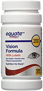 Equate - Vision Formula with Lutein, Eye Health Vitamin and Mineral Supplement, 120 Tablets by Equate