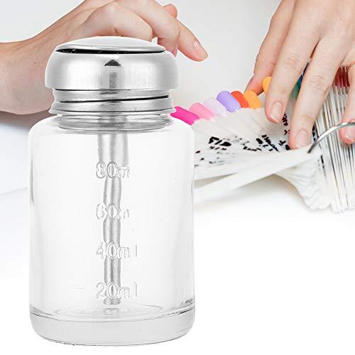 Bouteilles de distributeur de pompe à pression, bouteilles de dissolvant pour vernis à ongles Bouteilles de liquide rechargeables portables Récipient en verre transparent vide pour salon (1)