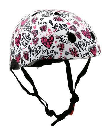 KIDDIMOTO Fahrrad Helm für Kinder - CE-Zertifizierung Fahrradhelm - Design Sport Helm für Skates, Roller, Scooter, laufrad - Liebe -S (48-53cm)